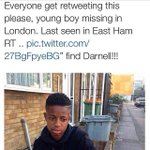 Please RT @TownFishLondon Please RT #missing since Monday - 15 years old #FindDarnell ???? http://t.co/PLQkdMz0Lu #missing #london