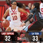 Great game in #Diddle as @LATechWBB leads @LadyTopperHoops 33-32 at the half. http://t.co/g7SHZW0vlx