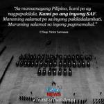 """""""Kami po ang inyong SAF. Maraming salamat po sa inyong pagmamahal."""" #TruthForTheFallen44 http://t.co/JGlR7cgWVr"""