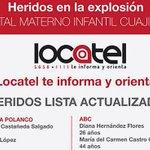 #HospitalCuajimalpa #Cuajimalpa Actualización de la lista de personas heridas http://t.co/NmMaAcRxkG http://t.co/PfJk9KPFxv