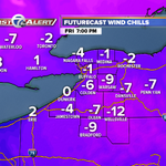 Wind Chill Advisory from 4pm Friday-9am Saturday for areas south of #Buffalo. Wind chills will be well below zero. http://t.co/VibqNvUFhE
