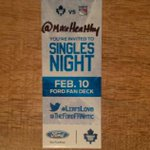 You gotta follow me if you want a chance to come to singles night with me and @MikeHealthy #leafslove #tmltalk http://t.co/DCWAfJVgaB