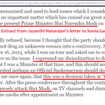 Dirty games the dynasty stooge @ajaymaken played against @narendramodi, http://t.co/FPYIiUiLfU http://t.co/EZ1yqxovUK