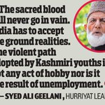 Hurriyat leader Syed Ali Geelani mocks martyrs valour http://t.co/9ylpKvuajE http://t.co/kzQFVvwRlp