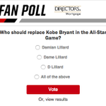 New @DM_Mortgage Fan Poll up on http://t.co/4peFCfbZnD.  #VoteLillard. http://t.co/jDJq9OydJk
