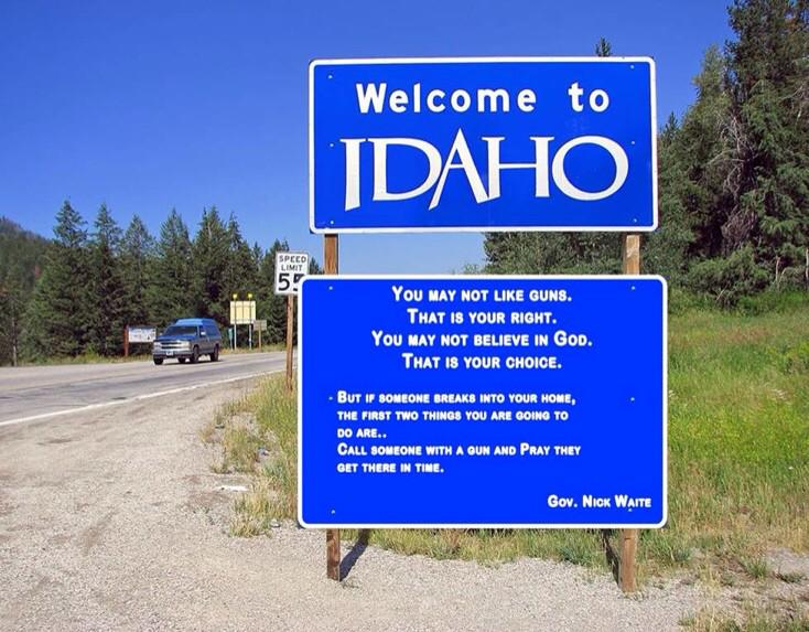 a buddy of mine was visiting idaho today and sent me this picture... I just had to tip my hat to idaho... Amen! http://t.co/8XNn2h3LCe