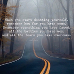 Great message for anyone ever doubting themselves. Be proud of who you are and all that you have overcome. http://t.co/Kzs3DYaQla