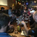 Phat Phat Burger contest is getting under way at the Derailed Pour House. Could you eat 6 lbs? #snowdown #steampunk http://t.co/HE96CZbHW2