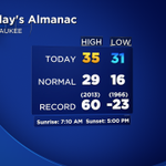 Our low temp will change before midnight, but here is the #Milwaukee almanac for today. #wiwx #swiwx http://t.co/T5wmfexZS3