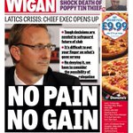 The front page of Fridays Wigan Evening Post.  A must read for Latics fans #wafc http://t.co/RiVGL8LWlD