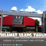 RT @osistel: SMK Telkom Purwokerto didirikan pada tanggal 30 Januari 1993 #HappyBirthdaySTEMATEL http://t.co/5WMlhnNTqD