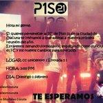 Unete a la gran familia de @piso21music en Cucuta y haz parte del cambio...Te esperamos! @AngelesMCucuta ♥ http://t.co/IbQRUKLvpA