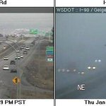 Fog was gone but now its back in & near downtown #Spokane per #WADOT cams. Be prepared for sudden reduced visibility http://t.co/cyvSIyFoKV