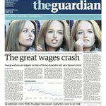 Guardian front page, Friday 30 January 2015: The great wages crash http://t.co/FmF9S77PrX