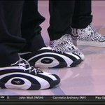 """Look like """"RoLos"""" @rolopez42 RT @NBAonTNT: Check out the kicks! @shaq on L & @aldridge_12 on R #captionthis #NBAStyle http://t.co/PJrxH39N3u"""