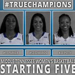 Starters for todays @MT_WBB game are: Cason (G) Parker (F) Edwards (G) Petty (G) Jones (F) http://t.co/iAUxpSbB18