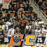 HALF | Mercer 36, Chattanooga 26 | Bears are a scorching 14-of-25 from the floor. Ike Nwamu 14 points #BlackoutChatt http://t.co/zsMfrAg95q