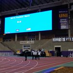 The video board is fired up and ready to go for this weekends UNI Jack Jennett track meet. #UNIFIGHT http://t.co/l3HleQVBrG
