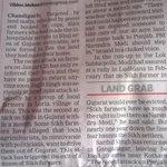 Badal sun raha hai Tu Ro raha hoon Mein Sikh farmers in Gujarat Today TOI page12 Yo yo BJP govt so secular Modi http://t.co/5jsK7mDGS8