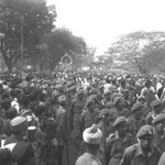 Feb 1948 :: Immersion Ceremony of Mahatma Gandhi s Ashes in Allahabad (via Photo Division ) http://t.co/sP7tXThsSw