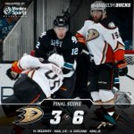 Second period dooms #NHLDucks, win streak ends at six. RECAP: http://t.co/AoUAYgZ4cZ #ANAvsSJS http://t.co/bapON2QiyE