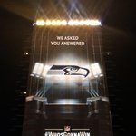 We asked. You answered. The @Seahawks picked up the most #WhosGonnaWin votes to win tonight's light show! #SB49 http://t.co/z2Ts2khAUM
