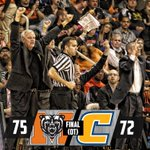FINAL | Mercer 75, UTC 72 | Capacity crowd on hand as Bears down #SoConHoops co-leader Chattanooga! #BlackoutChatt http://t.co/IEIpdI2afO