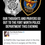 Our thoughts and prayers go out to the @fortworthpd this evening as the deal with this incident. Hoping everyone ok http://t.co/bjeOCvu9L0