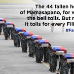 The 44 fallen heroes of Mamasapano, for whom the bell tolls. But really, it tolls for every Filipino. #Fallen44 http://t.co/jd6d1LPvKI