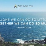 Alone we can do so little; together we can do so much. - Helen Keller http://t.co/Glk9IwCcEf