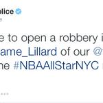 Dont worry Lillard, @PortlandPolice has your back! http://t.co/lSKMsr3TLk