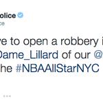 The @PortlandPolice arent happy that Damian Lillard isn't an All-Star http://t.co/ILKQ1Qg8C1 http://t.co/3YOJIJvHVN