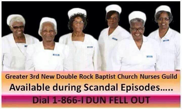 Bwahahahaha! Yeeees to the church nurses with the fans and OJ! RT @motivationmama: I'm done!!!! #Scandal @MyBrownBaby http://t.co/jw2tjag0a9