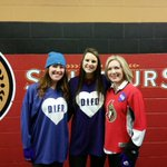 Puck drop for #MentalHealth @difdroyal #BellLetsTalk tonight. Thanks @Senators for the night of awareness! http://t.co/nxtIh9qOYz