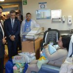 Visita de @EPN a las madres trasladadas a hospital ABC http://t.co/fbqX5kWe3a