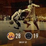 Lakers shoot 56.5% (13/23) on their way to the first quarter lead. http://t.co/FVtRMCtifD