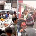 Delhi : BJPs Delhi CM candidate Kiran Bedi campaigns in Jagat Puri http://t.co/BPe1rnKUo0