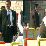 Former PM Manmohan Singh pays tribute to Mahatma Gandhi at Rajghat http://t.co/q655oVxcMx