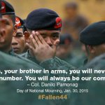 What one soldier had to say to his comrades, the #Fallen44 http://t.co/g0D51XeUIE