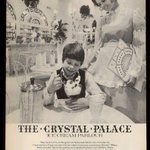 1974 Crystal Palace ice cream parlour Marshall Fields #Chicago store photo ad. http://t.co/eyIqqKSMRy