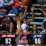 .@LadyTopperHoops shots 82.6% in 2nd half, rolls to 82-66 win over @LATechWBB in #Diddle | http://t.co/rka6j5jTpQ http://t.co/vpNxY88HdO