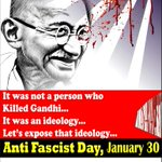 A tribute to the Father of the Nation.. Bapu who was killed by anti nationalist Godse. #HeyRam http://t.co/8PXOnbjnqk