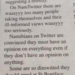 "Who wrote this nonsense? RT @KapanduH: Ha! RT @FoxyGinnah: ""@EbenHaihambo: Shade http://t.co/dYt1xoKr5u"