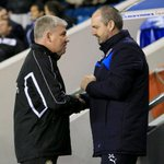 Nice photo of Steve Clarke and former Reading assistant manager @Sir_NG at Millwall this week. http://t.co/M3IXIiDXcN