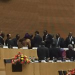 And pres Mugabe takes the chair #24AUSummit to a huge applause http://t.co/9xR597Ms5v