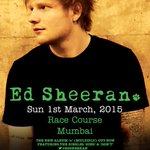 #GigAlert - Fly Music Festival presents @EdSheeran Live in Concert in #Mumbai. More info> https://t.co/ljdaGMblhr http://t.co/hlY22CSpPo