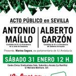 Os animo a que mañana nos acompañéis a @agarzon y a mí en #Sevilla, en un acto cargado de #LaFuerzaDeLaIzquierda http://t.co/efs6GwdU6v