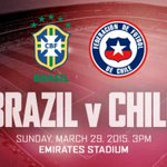 Emirates Stadium will host a friendly between Brazil and Chile on Sunday, March 29. Details: http://t.co/Qrzbcg2Olm http://t.co/yRtAwvONqW