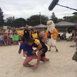 I give @SeanFletcherTV an Aussie Rules welcome to Cottesloe beach http://t.co/OSmd1PE9P6 http://t.co/wzReKCVAOu