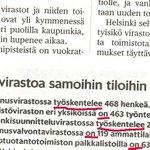 Toiset työskentelevät. HS Mesta 29.1. #työ #virastot #helsinki http://t.co/pTxwH49s6V